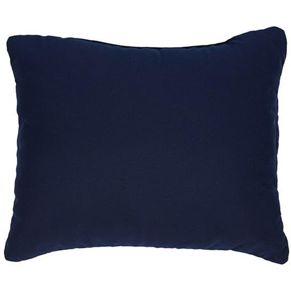 Shop Canvas Navy Knife Edge Indoor Outdoor Pillows With Sunbrella