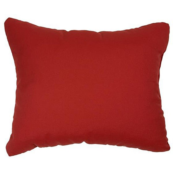 Canvas Jockey Red Knife-edge Indoor/ Outdoor Throw Pillows with Sunbrella Fabric (Set of 2). Opens flyout.