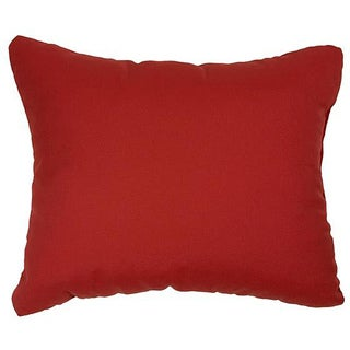 Canvas Jockey Red Knife-edge Indoor/ Outdoor Throw Pillows with Sunbrella Fabric (Set of 2)