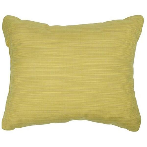 Textured Cornsilk Knife-edge Indoor/ Outdoor Pillows with Sunbrella ...
