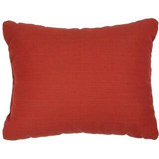 Textured Crimson Knife-edge Indoor/ Outdoor Pillows with Sunbrella Fabric (Set of 2)