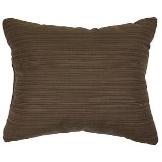 Textured Walnut Knife-edge Indoor/ Outdoor Pillows with Sunbrella Fabric (Set of 2)