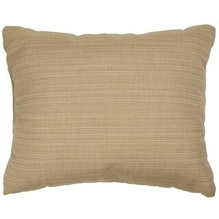 Textured Sand Knife-edge Outdoor Pillows with Sunbrella Fabric (Set of 2)