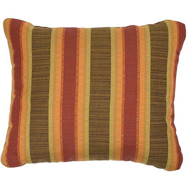 Autumn Stripe Knife-edge Indoor/ Outdoor Pillows with Sunbrella Fabric (Set of 2)