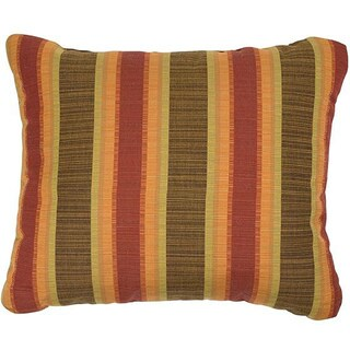 Autumn Stripe Knife-edge Indoor/ Outdoor Pillows with Sunbrella Fabric (Set of 2)