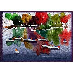 Edward Eugene Wade Jr. 'Autumn Fishers 1' Art Print