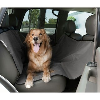 majestic pet products grey waterproof hammock backseat cover pet seat cover car protector  bench hammock backseat liner for car      rh   overstock