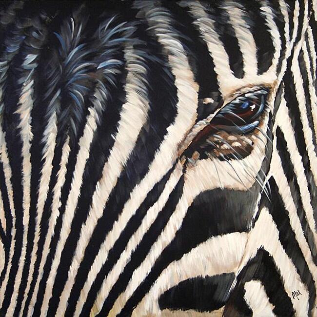 Max 'Zebra' Canvas Art