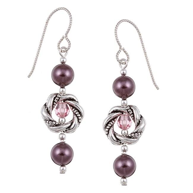 MSDjCASANOVA Argentium Silver Crystallized Pearl Earrings