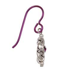 MSDjCASANOVA Amethyst-colored Crystal Nobium Earrings