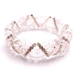 Clear Crystal and Rhinestone Stretch Bracelet