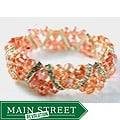 Light Pink Crystal and Rhinestone Stretch Bracelet