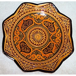 Ceramic 'Isabella' Engraved Plate (Morocco)