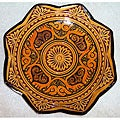 Link to Handmade Ceramic 'Isabella' Engraved Plate (Morocco) Similar Items in Decorative Accessories
