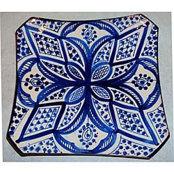 Ceramic 'Jamila' Engraved Plate (Morocco)