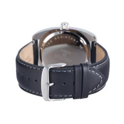 Hector H France Men's 'Fashion' Stainless-Steel Leather Strap Watch - Thumbnail 2