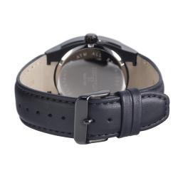 Hector France Men's Black Dual Time Watch