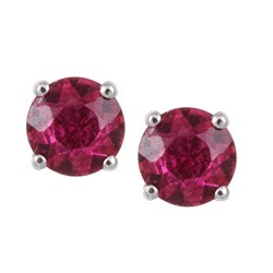 14k White Gold and Tourmaline Earrings