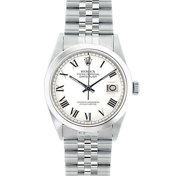 Pre-Owned Rolex Men's Datejust White Dial Stainless Steel Watch