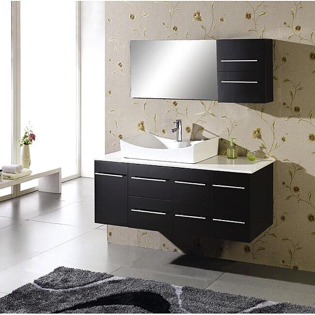 Tiffany 55 Inch Single Sink Oak Bathroom Vanity