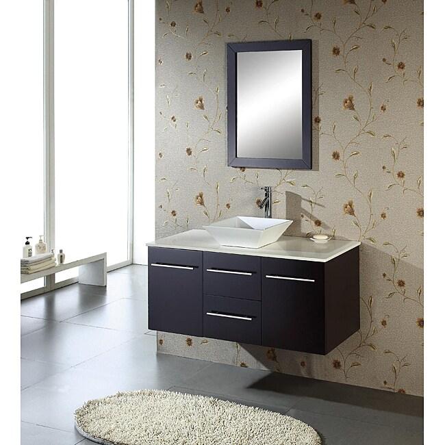 Virtu USA Christy 47-inch Single Sink Oak Bathroom Vanity