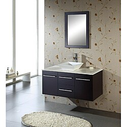 Shop Virtu USA Christy 47-inch Single Sink Oak Bathroom ...