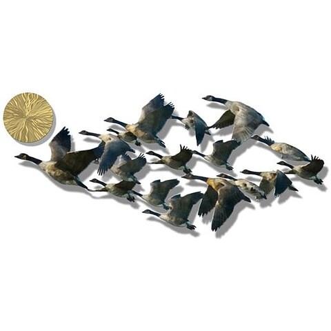 Ash Carl 'Marvelous Migrations' Metal Wall Sculpture