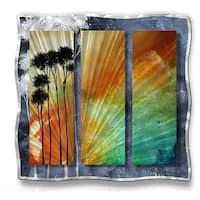 Megan Duncanson 'Summer Palms' Metal Wall Art