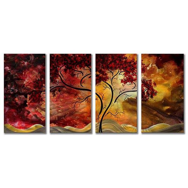 Megan Duncanson 'Passionate Light' 4-Panel Metal Wall Art