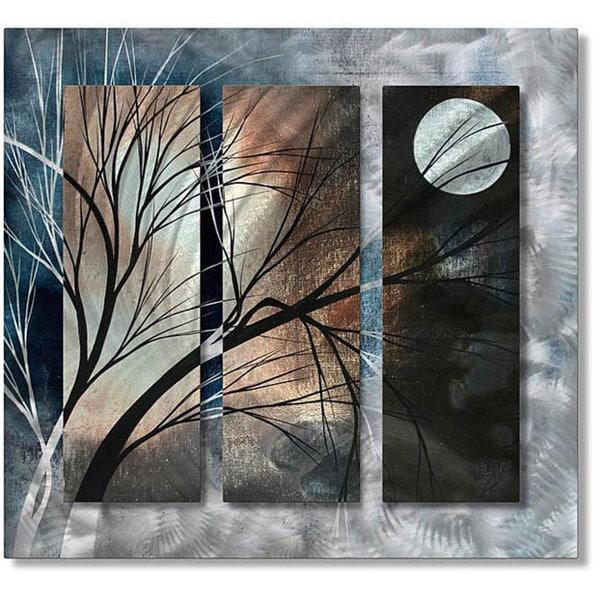 Moon Wall Art megan duncanson 'full moon' metal wall art - free shipping today