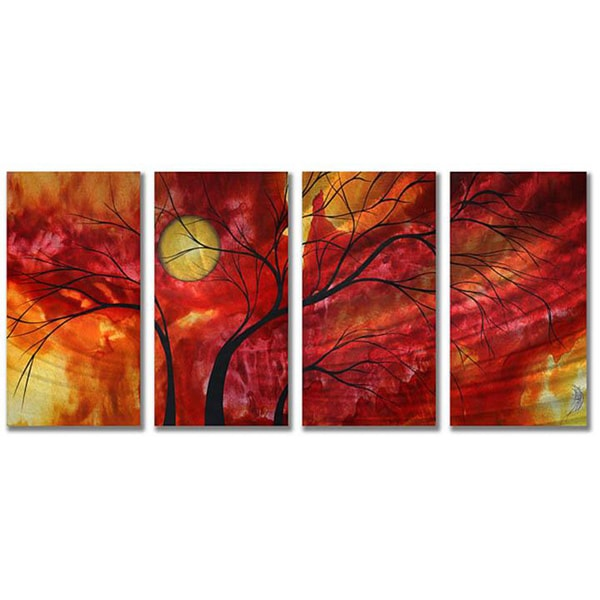 Megan Duncanson 'Burning Crimson' Metal Wall Art