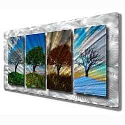 Ash Carl Four Seasons Tree Landscape Metal Wall Art