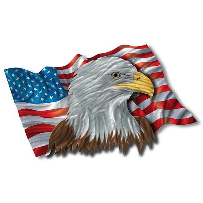 Ash Carl The Patriotic Eagle Metal Wall Art Free