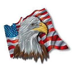 Ash Carl 'The Patriotic Eagle' Metal Wall Art