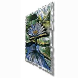 Ash Carl 'Water Lilies' Metal Wall Art