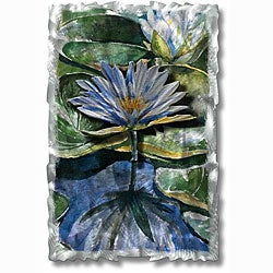 Ash Carl 'Water Lilies' Metal Wall Art