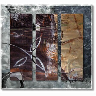 Shop Ruth Palmer Calming Leaves Metal Wall Art On Sale