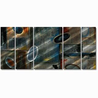 Ruth Palmer 'Subtle Ovals' 5-piece Metal Wall Art Set