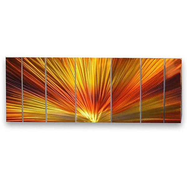 Ash Carl 'Peace' 7-panel Abstract Metal Wall Art