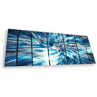 Ash Carl 'Highlight' 7-panel Abstract Metal Wall Art