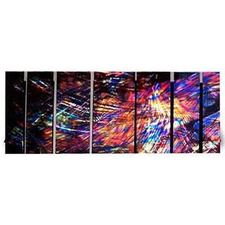 Ash Carl 'Come' 7-panel Abstract Metal Wall Art