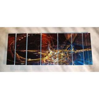 Ash Carl 'Memories' 7-panel Abstract Metal Wall Art