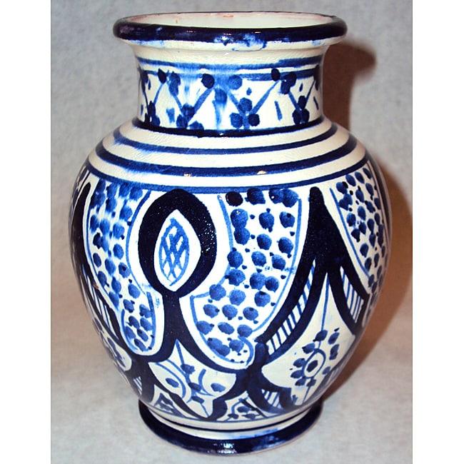 Handmade Petite Sophia Ceramic Vase (Morocco)