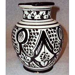 Handmade Petite Sophia Ceramic Vase (Morocco) - Thumbnail 1