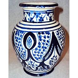 Handcrafted Petite Sophia Ceramic Vase (Morocco)