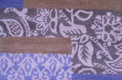 Hand-tufted Metro Mixed Blue Wool Rug (4' x 6') - Thumbnail 2