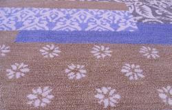 Hand-tufted Metro Mixed Blue Wool Rug (4' x 6') - Thumbnail 1