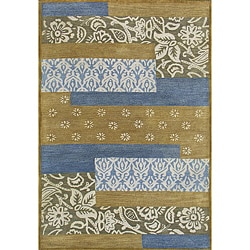 Hand-tufted Metro Mixed Blue Wool Rug (4' x 6') - 4' x 6' - Thumbnail 0