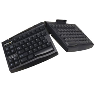 GOLDTOUCH ERGONOMIC SMART CARD Keyboard BLACK BY ERGOGUYS