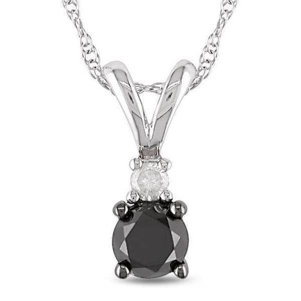 Miadora 10k White Gold 1/2ct TDW Diamond Fashion Necklace (H-I, I2-I3)